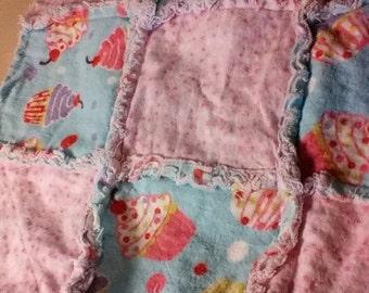Baby flannel rag quilt