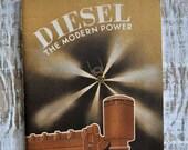 1936 Diesel The Modern Power General Motors Technical Data Department Engine Booklet Illustrated Art Deco