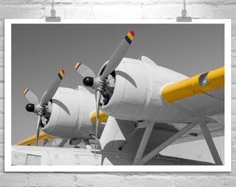 Vintage Plane Art, Airplane Photo, Aviation Print, Pilot Gift, Aircraft Photography, Black and White, Flying Boat, Aeronautical Art, Pan Am