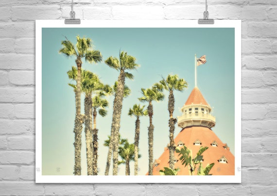 California Photography, Hotel Del Coronado, San Diego Photograph, Coronado Beach, Architecture Art, Palm Trees, MurrayBolesta
