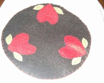 Heart candle mat, ab4b, ofg team