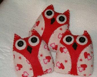 Valentine owl, bowl fillers ,ornies, AB4B, OFG Team