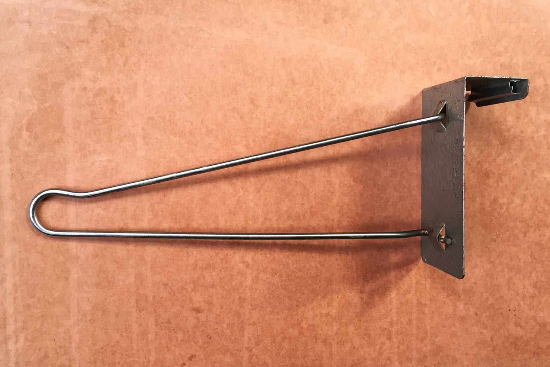 Vintage industrial over door coat rack hanger midcentury for 12 hook over the door coat rack