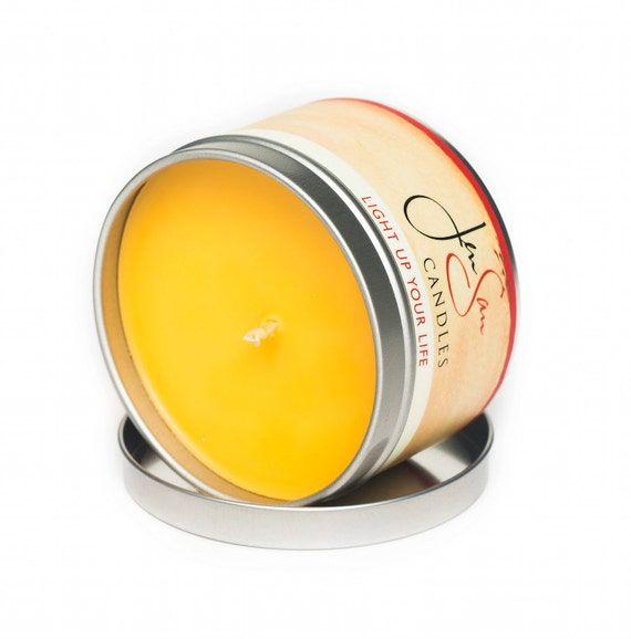 Cucumber Cantaloupe Scented Travel Tin Soy Candle
