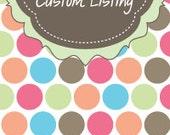 Custom Listing for Suds N Such