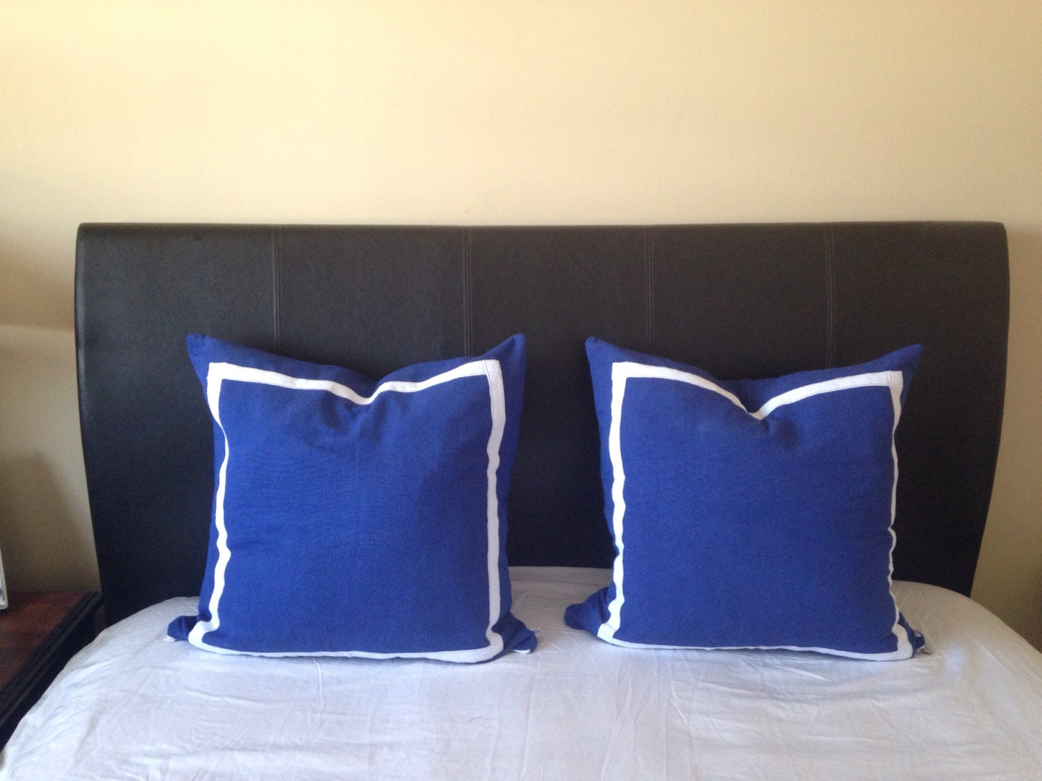 Decorative Pillows For The Bedroom : 30% OFF Trim Pillows Bedroom Pillows Blue throw Pillows