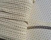 "Cream Cluny Trim - Narrow Natural Crochet Torchon Cluny Lace - 3/8"" - 10 Yards"