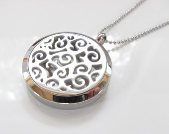 Essential Oil Diffuser Necklace - Locket - Stainless Steel Version