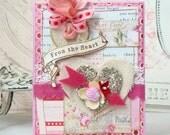 From The Heart Shabby Chic Handmade Card