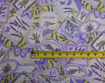 Lavender Market 2 Garden Flowers Butterfly Toss BY YARDS Northcott Cotton Fabric