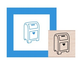 Mailbox Rubber Stamp
