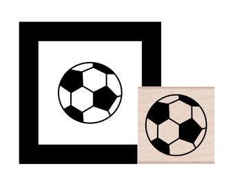 Soccer Ball Rubber Stamp