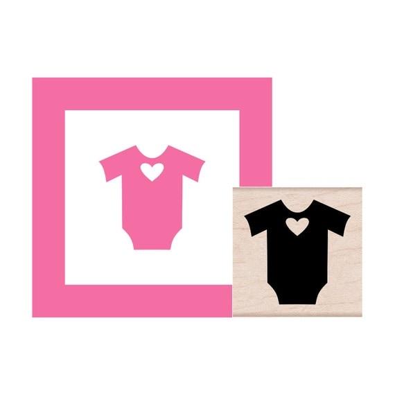 Baby Onesie Rubber Stamp