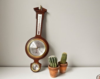 Wood Barometer Weather Station Temperature