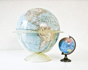 Vintage World Globe, 1960's World Globe, National Geographic Globe