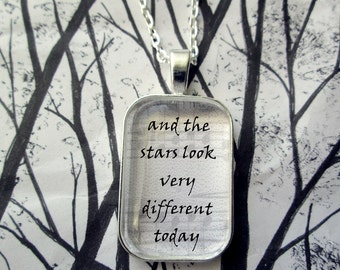 Space Oddity David Bowie Song Lyric Pendant