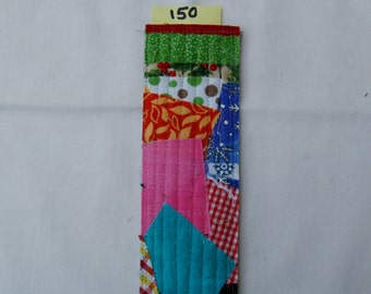 Scrappy Rustic Quilted Bookmark #150