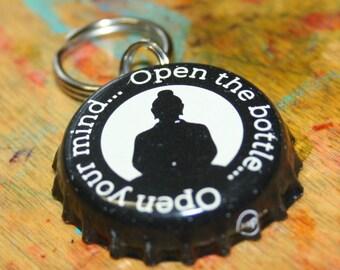 Bottle cap dog id tag | Etsy