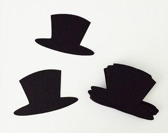 24 Black Top Hat Diecuts