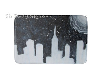 Galaxy bath rug mat kitchen mat bedroom plush outer space rug floor mat choose size made to order fantasty decor home decor custom rug