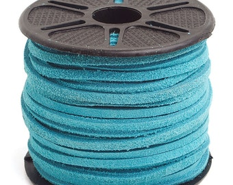 5 Yards Genuine Suede Lace - Turquoise 3.5mm (2311816)