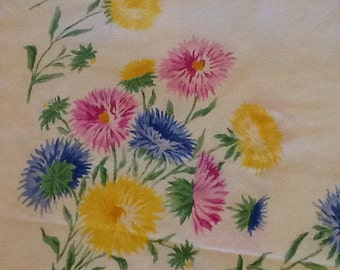 Vintage Floral Tablecloth