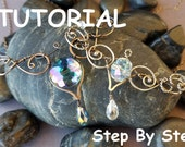 Wire Wrapping Jewelry Tutorial Allora Crystal Necklace step by step PDF - Instant Download