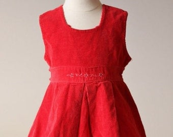 ON SALE 1940s Corduroy Dress~Size 18 Months