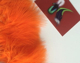 FLUFF MARABOU  FRINGE/ Carrot Orange / 948