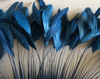 STRIPPED COQUE TAIL / Denim Blue / 1146