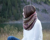 WINTER SALE Wool Chunky Knit Cowl Neckwarmer / THE Minnetonka / Bramble