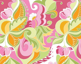 Extravaganza by Lila Tueller ~ Floral Pink ~ Woven Cotton by the Yard ~ Riley Blake Designs