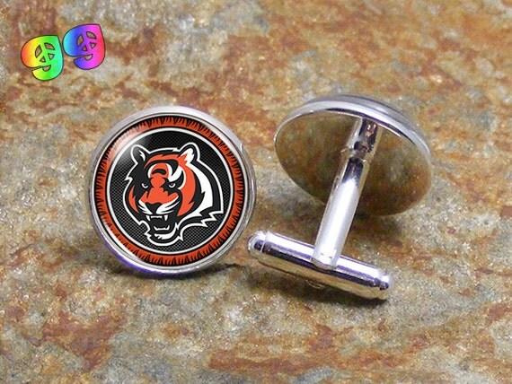NFL Cincinnati Bengals Cufflinks Jewelry Football by GroovyGals