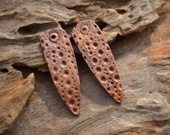 Handmade Copper Point shaped Sea Urchin pair