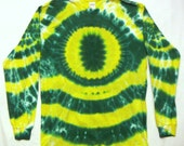 Tie Dye Shirt, Oregon Ducks T-Shirt, Adult Medium Long Sleeved
