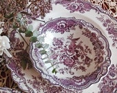 Four 5pc china settings and sandwich platter Bristol Old Hall Crown Ducal Mulberry Circa 1931