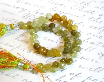 Out Of Town SALE Grossular Green Garnet Onion Briolette Beads  1/2 Strand Natural QTY 30 5mm 5.5mm