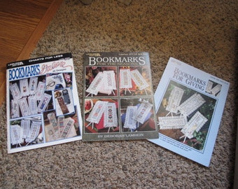 Set of 3 Bookmark Cross Stitch Books