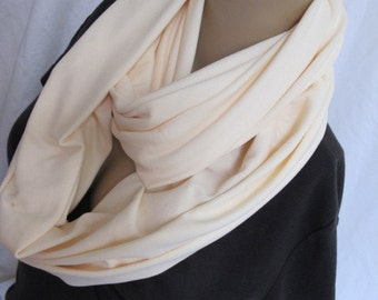 SALE - Creamy Plush Stretch Cowl/Circle Scarf/Infinity Scarf (5135)