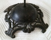 Antique Hat Stand, store display black iron metal, Art Nouveau