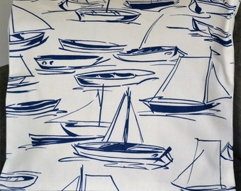 """2 Coastal Living Pillow Covers, Blue and White, 21"""" sq., Sailboats"""