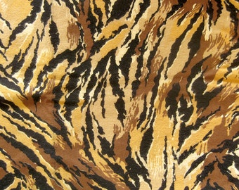 Animal Print Flannel Fabric in Brown Tans and Black / Jungle Theme Sewing Fabric / Yardage