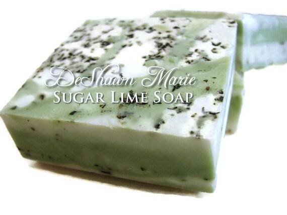 SALE SOAP- Sugar Lime Soap - Vegan Soap - Mojito Soap - Handmade Soap- Soap Gift - Birthday Gift - Christmas Gift