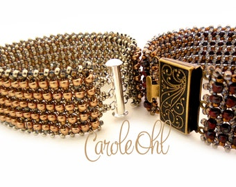 Hubbled 8s Bracelet Tutorial by Carole Ohl