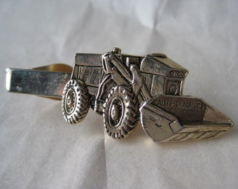 Allis-Chalmers Front End Loader Tie Clip Gold Vintage