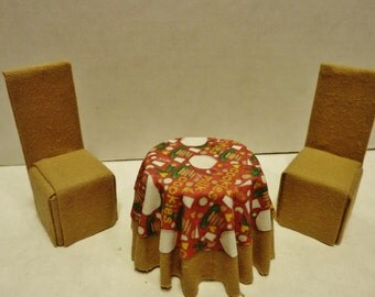 Half Scale Cookie Print Table and Chair Set