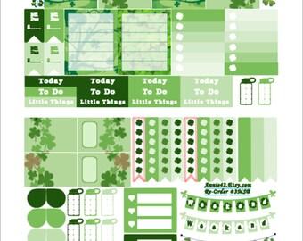 Planner Stickers for MARCH, St Patricks  Day Planner Stickers, Checklist Stickers, Free Planner Calendar, Weekend Sticker, Flag Sticker - AR