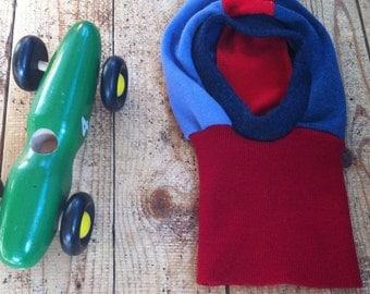 Balaclava - Pure Wool Hat - PACIFIC LOON - With Racing Stripe - Custom Size newborn to 8T