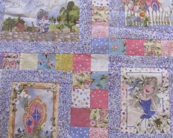 Unfinished Quilt Top, Very Fairy Fairies, Loralie, Backing Included