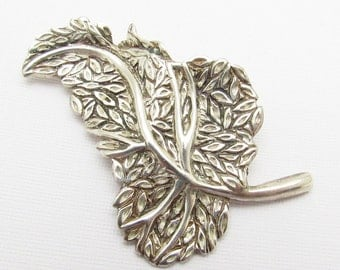 Sterling Tree Brooch Leaf Vintage Jewelry P7170